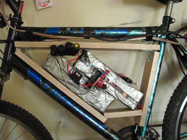 E-Bike mod: Moving the battery into the frame triangle. (5/6)